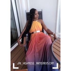 Asos - Rainbow Ombré Dress Chiffon